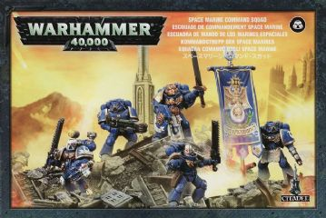 Games Workshop Warhammer 40000 40K Space Marine Command Squad 48-17